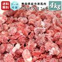 牧場直送!青森県産 完全無添加 冷凍馬肉 パラパラミンチ 犬用 ペット用 4kg(100g×40個)
