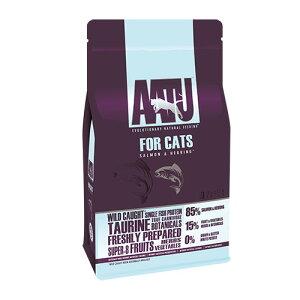【正規輸入品】AATU キャットフード サーモン&ニシン 成猫用 1kg