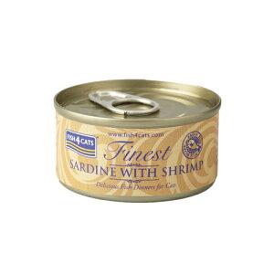 【正規輸入品】FISH4CATS(フィッシュ4キャット)イワシ&小エビ 缶詰 猫用 70g