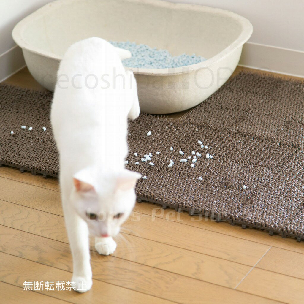 OPPO (オッポ) necoshiba (ネコシバ)マット 猫用 4枚 ブラウン/グリーン/オレンジ
