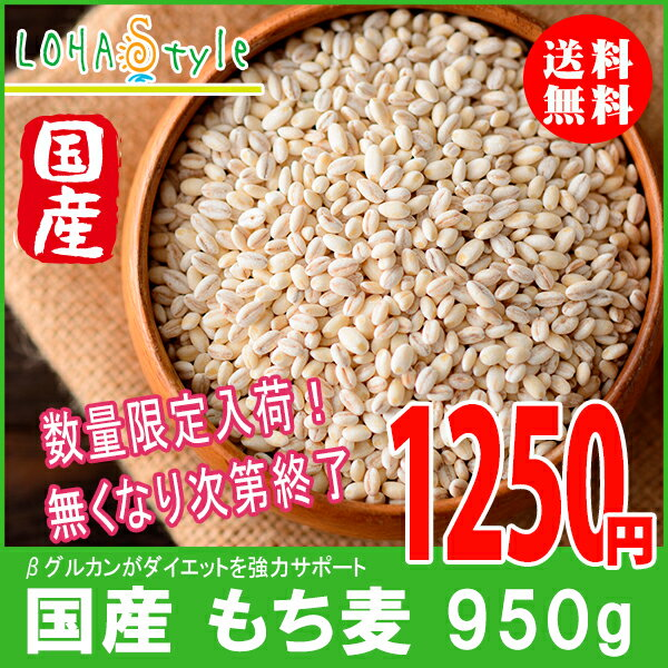 もち麦 国産 950g モチプリで美味しく健康生活 LOHAStyle