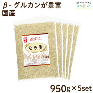 もち麦 国産 4750g(950g×5袋) モチプリで美味しく健康生活 ご飯に混ぜる麦 モチ麦 もち 麦 大麦 糖質カット 糖質オフ 糖質制限 LOHAStyle