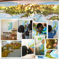 立体日本地図カレンダー2019商品画像10使用例