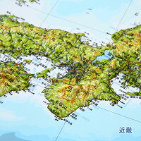 立体日本地図カレンダー2020商品画像説明近畿地方_vp