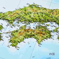 立体日本地図カレンダー2020商品画像説明四国_vp