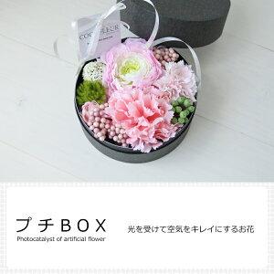 光触媒 アーティフィシャルフラワー(造花) プチBOX 消臭・除菌・環境改善 光を受けて繰り返すお花。