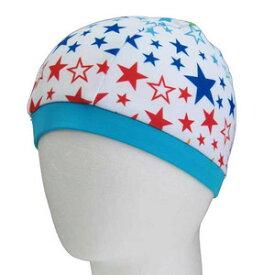 スイムキャップ キッズ ザジーザップス Zazzy Zaps 子供用 ス 水着 白色 レインボウ星柄 男の子 夏休み 海 プール キッズ 子供 水泳帽子