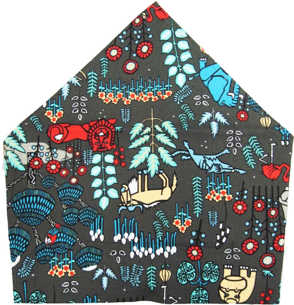 三角巾(ジャングルアニマル柄)子供用 三角巾 子供三角巾 幼児用三角巾 通園 通学 入園 入学 幼稚園 保育園 小学校 ロリポップ