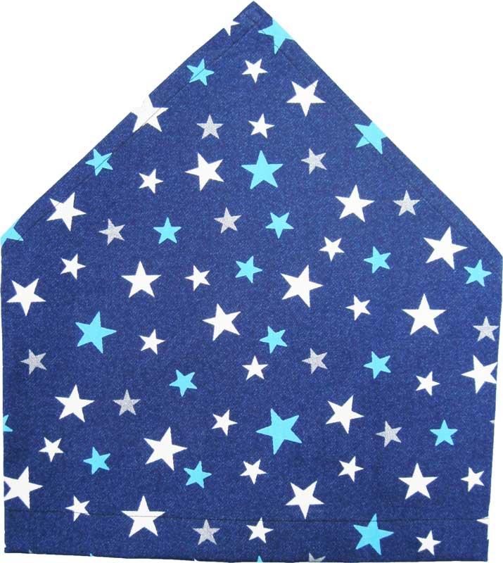 三角巾(紺地にブルー星柄 ゴム留め) 子供用 三角巾 子供三角巾 幼児用三角巾 通園 通学 入園 入学 幼稚園 保育園 小学校 ロリポップ