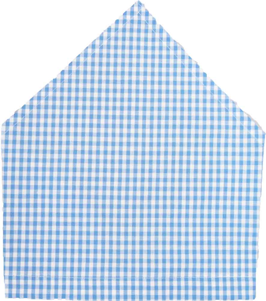 三角巾(ブルーチェック柄)子供用 三角巾 子供三角巾 幼児用三角巾 通園 通学 入園 入学 幼稚園 保育園 小学校 ロリポップ