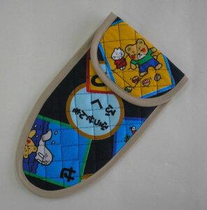 子供用はさみケース(かるた柄・外枠の色でお選び頂けます)