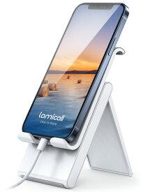 折り畳み式 スマートフォンスタンド 軽量 持ち運びやすい スマホスタンド 用 iPhone12 pro max mini 角度調整 卓上 デスク コンパクト 立てかけ 机 携帯おき スマホ立て 携帯立て 滑り止め iPhone Android スタンド