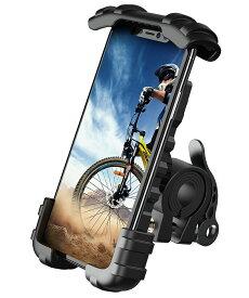 【15倍ポイントUP!】自転車 スマホホルダー 片手操作 自転車用 バイク スマホ ホルダー ロードバイク マウント バイク用 スマートフォン 携帯ホルダー スマホ固定 ベビーカー ママチャリ バイクナビ マウンテンバイク 取付 サイクリング アイフォン iPhone XS Max XR 8 plus