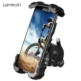 【楽天一位】自転車 スマホホルダー スタンド 片手操作 バイク スマホ ホルダー ロードバイク マウント バイク用 スマートフォン 携帯ホルダー スマホ固定 ベビーカー ママチャリ 取付 サイクリング iPhone 12 XS Max XR 11 plus Uber Eats 配達員