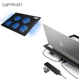 ノートパソコンクーラー 冷却ファン ノートパソコン pc 冷却ファン 冷却パッド ノートPC パソコン クーラー テレワーク スタンド 熱対策 静音 散熱器 風量調節可 USB アップル マック ブック MacBook Air Pro 11 13 Surface Dell Lenovo