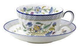ティーカップ&ソーサー Haddon Hall Trellis Blue(ハドンホール トレリス ブルー)/ロイヤルドルトン社(Royal Doulton)製【ミントン(minton)】