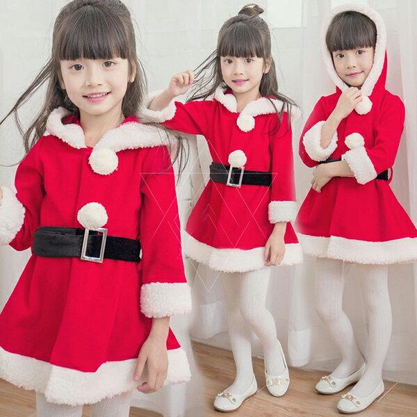 キッズ サンタ服 女の子 サンタコスプレ ワンピース フード付き コスチューム 仮装 演出服 子供服 キッズ サンタクロース サンタ衣装 コスプレ 着ぐるみ パーティー クリスマスプレゼント 女の子 コスチューム 送料無料