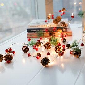 LEDイルミネーション 電池式 クリスマスライト LEDライト クリスマス 飾りツリー 20led led電球 2m ベリーピック 松ぼっくり パーディー 電飾 クリスマスツリー用品 クリスマス飾り室内 オーナメント デコレーション 結婚式 庭対応 誕生日