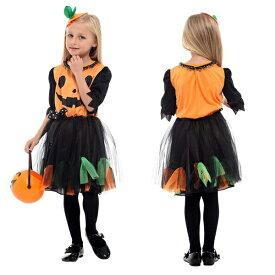 即納 ハロウィン コスプレ ハロウィン衣装 かぼちゃ パンプキン チュチュ ワンピース 悪魔 魔女 女の子 子供用 ふんわり 仮装 ハロウィーン ダンス衣装 キッズ コスプレ コスチューム 子供服 万聖節 お化け デビル かぼちゃのコスチュームが登場