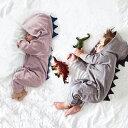 送料無料 北欧風 オシャレな恐竜造形 怪獣 赤ちゃん用ロンパース/男の子 女の子 帽子付きベビー服/キッズ 幼児 着ぐる…