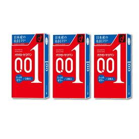 オカモトゼロワン 001 たっぷりゼリー 3個入/3箱セット/オカモト/コンドーム/0.01mm/避妊具
