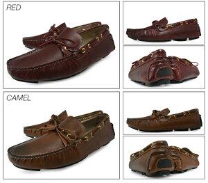 【P】メンズドライビングシューズ本革モカシン5カラーBumpN'GRIND(バンプアンドグラインド)bg-2120WHITEBLACKNAVYREDCAMEL靴くつ