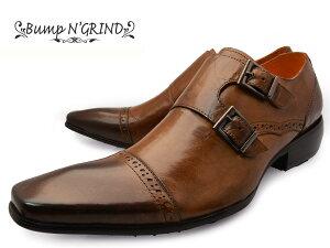 BumpN'GRIND(バンプアンドグラインド)bg-6022CAMELメンズビジネスシューズロングノーズ本革ドレスシューズスクエアトゥ革靴紳士靴キャメル【送料無料】【RCP】