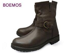 BOEMOS (ボエモス) l3-1068 FIGARO T.MORO メンズ エンジニアブーツ サイドジップ ダークブラウン レザー 本革 イタリア製 革靴 紳士靴 【送料無料】