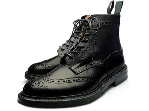 TRICKER'S COUNTRY BOOTS MALTONBLACK M2508トリッカーズ カントリーブーツ マートン ブラック【送料無料】