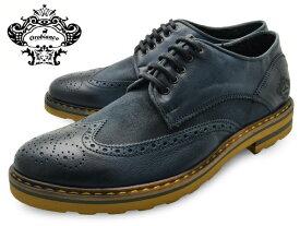 OROBIANCO オロビアンコ シューズ BONOLA ボノーラ PETROL (NAVY) メンズ 本革 ウイングチップ イタリア製 ネイビー 革靴 紳士靴 靴 くつ