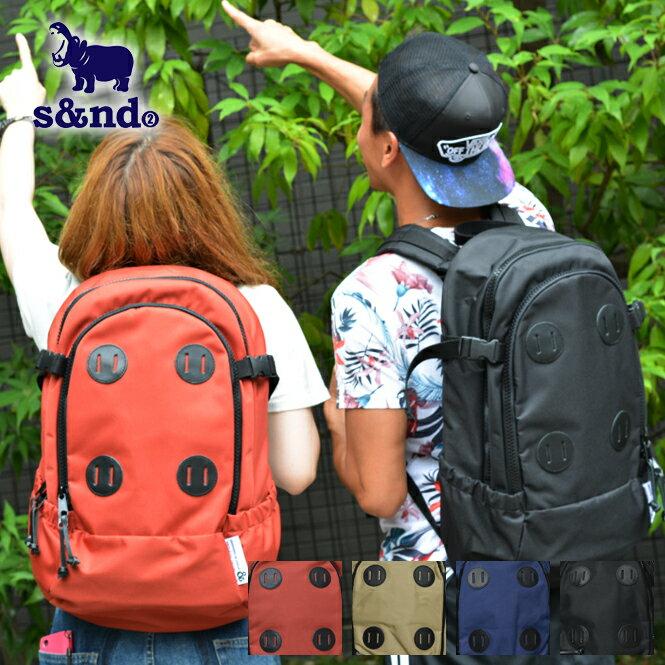S&ND セカンド retro workable backpack リュック リュックサック バックパック メンズ レディース 黒 紺色 青色 ベージュ オレンジ ポリエステル 牛ヌメ革 25L 送料無料 kbn10