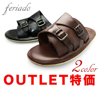 feriado 下跌 ad 男式凉鞋表带皮革凉鞋痹证 131 黑褐色黑色棕色红茶品牌