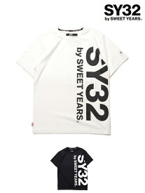 Tシャツ 半袖 メンズ レディース S/M/L/XL/XXL LL/3L ◆【REGULAR】VERTICAL LOGO TEE◆ SY32 by SWEET YEARS Official エスワイサーティトゥバイスウィートイヤーズ オフィシャル [TNS1709]