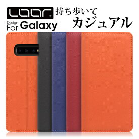 LOOF Casual Galaxy S10 ケース S10+ Plus 手帳型 カバー A30 SCV43 手帳型ケース A20 手帳ケース A7 SC-04L SCV42 SC-03L SCV41 スマホケース Feel2 S9 S9+ S8 S8+ S7edge 手帳型カバー S6edge 財布型 S6 財布型ケース S5 スマホカバー カード収納 左利き 右利き ベルト無し