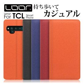 LOOF Casual TCL 10 5G Lite Pro 手帳型ケース 10pro ケース 手帳型 ミーノートテン 手帳型カバー スマホケース ベルト無し 右利き 左利き カード収納 スタンド 蓋ピタ