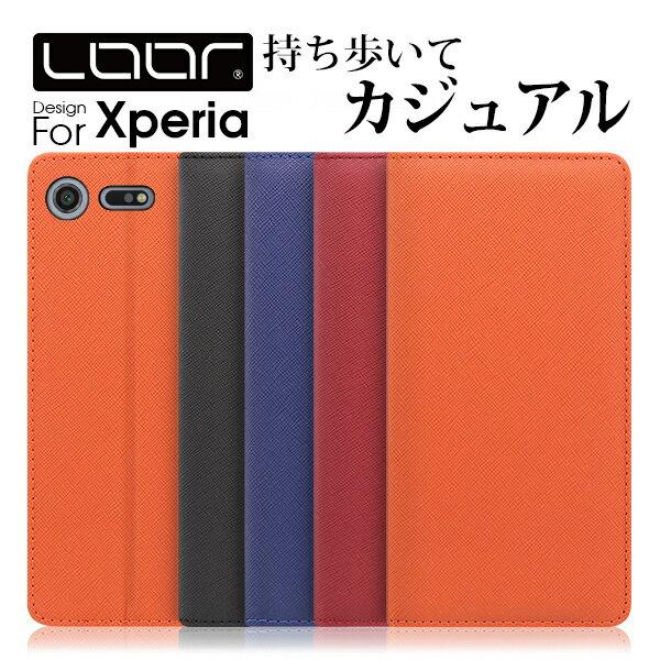 LOOF Casual Xperia XZ3 XZ2 Premium Compact XZ1 XZ XZs Z5 Z4 X Performance ケース 左利き 右利き ベルト無し エクスペリア ソニー カバー 手帳型 手帳型ケース 手帳型カバー 財布型 財布型ケース スマホ カード収納 スタンド 左 蓋ピタ ベルト無し