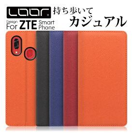 LOOF Casual ZTE Axon 10 Pro 5G 手帳型ケース リベロ Libero S10 ケース 手帳型 手帳型カバー ゼットティーイー スマホケース ベルト無し 右利き 左利き カード収納 スタンド 蓋ピタ