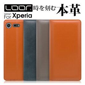 LOOF Simplle 本革 Xperia 1 ケース 手帳型 XZ3 カバー ACE 手帳型ケース XZ2 SO-03L SOV40 SO-01L SOV39 XZ1 Compact スマホケース XZ Premium 手帳型カバー XZ2 ブック型カバー Z5 X Performance X Compact XZs SO-01H SOV31 Xperiaケース Xperiaカバー スタンド シンプル
