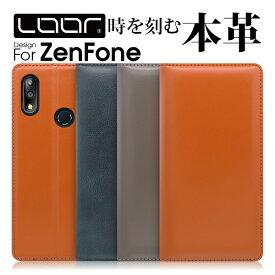 LOOF Simplle ZenFone6 ケース ZenFone Max Pro M2 手帳型ケース M1 カバー 手帳型 Live L1 手帳型カバー 本革 Edition 30 ZS630KL スマホケース ASUS ゼンフォン エイスース 5 5Z 5Q MaxPlus カバー 牛革 磁石無し ベルト無し カード収納 右利き 左利き スタンド ブック型