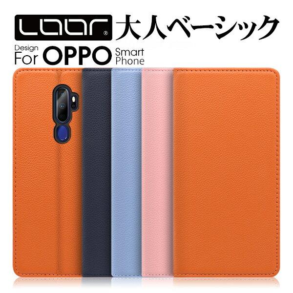 LOOF Pastel OPPO R17 Neo ケース R15 Pro カバー 手帳型 AX7 手帳型ケース R17Neo R17Pro R15Neo R15Pro スマホケース ブック型 手帳型カバー 左利き カードポケット カード収納 ベルト無し パステルカラー シンプル