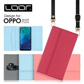 LOOF Strap OPPO A5 2020 ケース クラッチバッグ風 ストラップ Reno 10x Zoom A 128GB スマホカバー R15 Neo AX7 カバー R17 Neo R17Pro R15Pro オッポ カード収納 スマホケース ネックストラップ スマートフォンケース 首かけ 肩掛け シンプル カードポケット ベルト無し