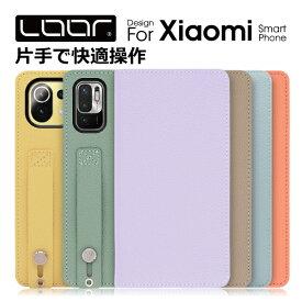 LOOF Hold Xiaomi Mi Note 10 Lite 5G Pro 手帳型ケース Redmi Note 9S シャオミ ケース 手帳型 カバー 手帳型カバー ミーノートテン スマホケース 本革 カードポケット シンプル リング付き ベルト ループ 片手