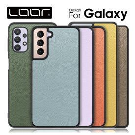 LOOF Galaxy S20 Ultra 背面 ケース S20+ カバー S10 ハードケース S10+ ハードカバー Note10+ A7 S10+ S9+ S9 ギャラクシー スマホケース 本革 ストラップホール シンプル メンズ レディース