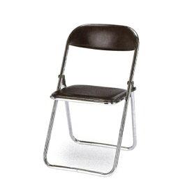 【法人限定】パイプ椅子 メッキ脚タイプ スライド式折りたたみイス オフィス家具 セミナー 講演会 イベント イス 折り畳みチェア DF-7500M
