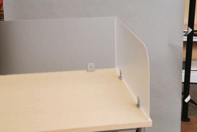 サイドデスクパネル パーティション W680×H300mm パネル パーテーション スクリーン 衝立 ついたて 間仕切り アクリル 激安 BF-SAP700 LOOKIT オフィス家具 インテリア