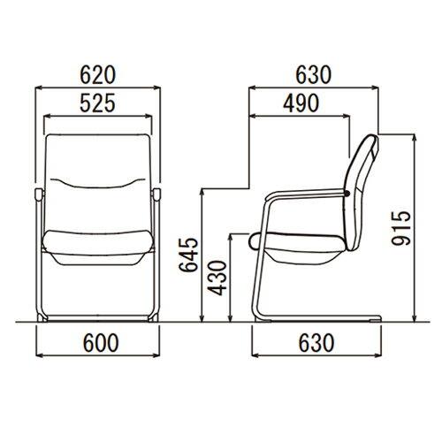 ★45%OFF★エグゼクティブチェアミーティングチェアワークチェア重役用椅子オフィスチェア高さ調節肘置き付きビニールレザー張りオフィス家具MC-716