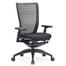 エルゴノミクスチェア メッシュ ミドルバック 可動肘付 キャスター付 布張り 回転イス オフィスチェア エグゼクティブチェア 事務用椅子 R-5615 送料無料 ルキット オフィス家具 インテリア