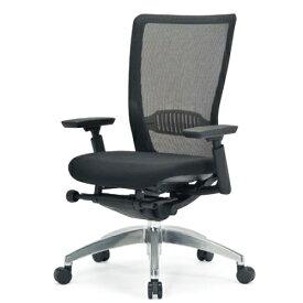 エルゴノミクスチェア ミドルバック 可動肘付 キャスター付 布張り メッシュチェア オフィスチェア エグゼクティブチェア 事務用椅子 R-5735 送料無料