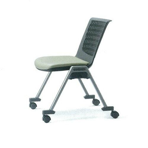 ミーティングチェア 布張り レザー キャスター付き 肘なし スタッキング 椅子 イス いす 会議椅子 オフィスチェア 会議室 デスクチェア パソコンチェア MC-553