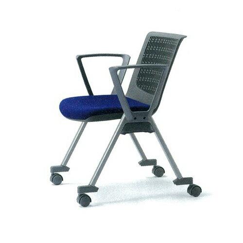 ミーティングチェア 布張り レザー キャスター付き 肘付き スタッキング 椅子 イス いす 会議椅子 オフィスチェア 会議室 デスクチェア パソコンチェア MC-554